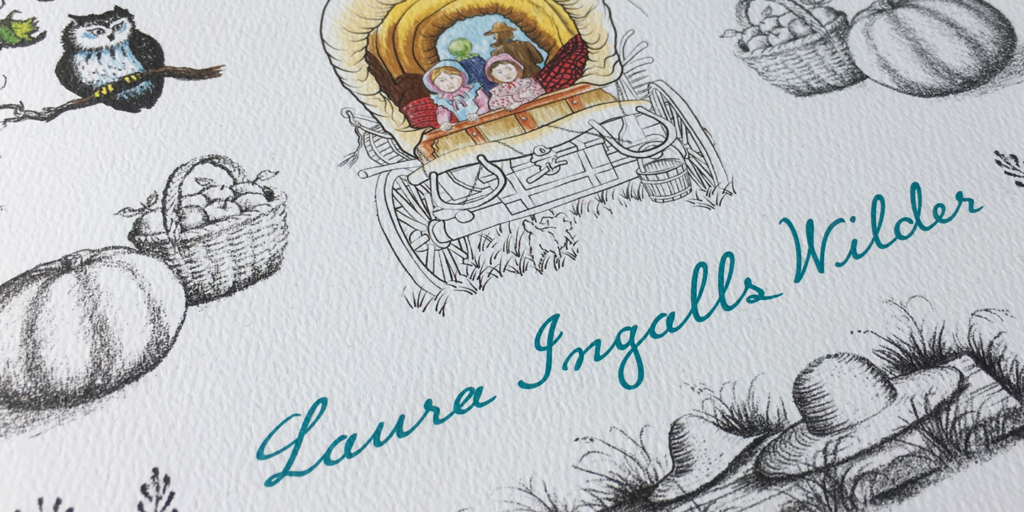 Little House Script is based on the handwriting of Laura Ingalls Wilder