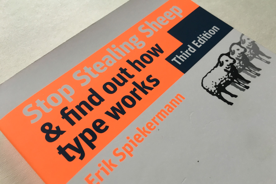 "FF Mister K in Erik Spiekermann's book ""Stop Stealing Sheep"""